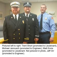 Fire dept pinning ceremony photos